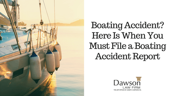 Boating Accident: Here Is When You Must File a Boating Accident Report
