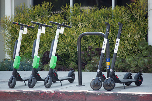 e scooters ready for pedestrian use causing personal injury accidents in florida