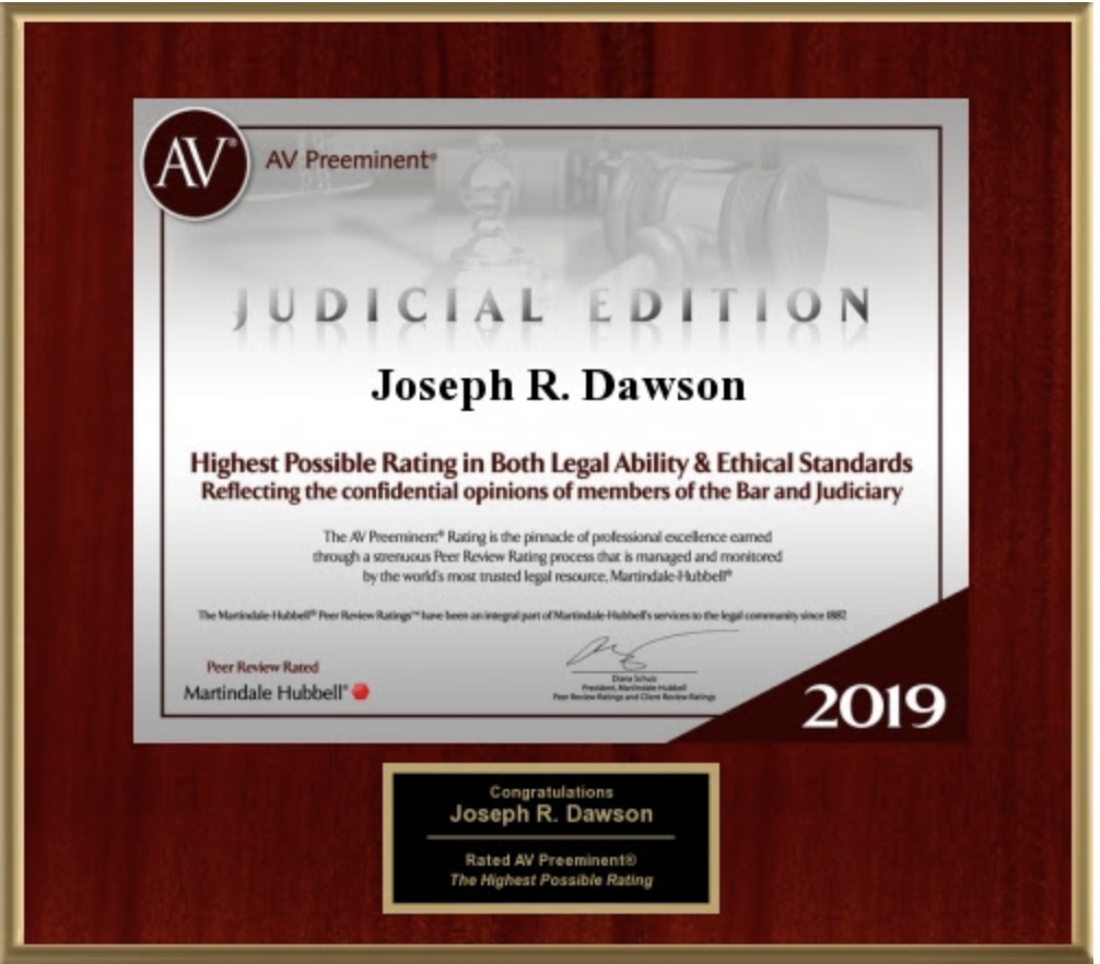 The AV Preeminent Rating 2019 - Judicial Edition